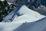 The Mont Blanc Massif, Hiking Photographic Print