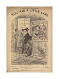Mary Had a Little Lamb Giclee Print by Alfred Concanen