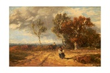 A Road by a Common: Windy Day, C.1840-59 Giclee Print by David Cox
