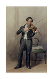 Member of the 6th Duke of Devonshire's Orchestra Giclee Print by William Henry Hunt