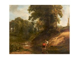 Boys Fishing, 1824 Giclee Print by William Collins