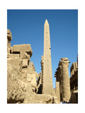 The Obelisk Raised by Tuthmosis II with the Great Hypostyle Hall in the Background and a Carved… Giclee Print