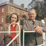 Evelyn Waugh with His Wife, 1959 Photographic Print