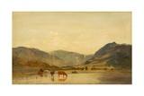 Lake Scene, C.1860-70 Giclee Print by Francis Danby