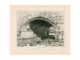 Arch of Old London Bridge, 1831 Giclee Print by Edward William Cooke