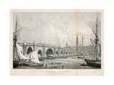 London Bridge Giclee Print by William Westall