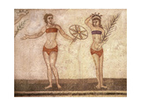 Detail of the 'ten Girls Mosaic' Depicting Women Athletes Giclee Print