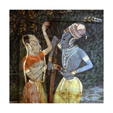 A Detail of a Wall Hanging, with a Scene from the Legend of Krishna Giclee Print