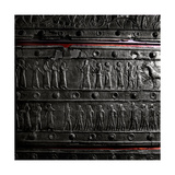 The Wooden Gates of Shalmaneser III with Band Relief Decoration in Bronze Giclee Print