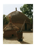 A Woman's House with a Granary in the Foreground in a Hausa Village Compound Giclee Print