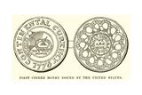First Coined Money Issued by the United States Giclee Print by  English School