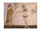 Detail of the 'ten Girls Mosaic' Depicting Women Athletes Giclee Print