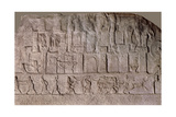 Detail of a Relief Depicting the Troops of Tiglath-Pileser III Attacking a Phoenician or Syrian… Giclee Print