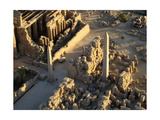 Aerial View of Karnak Showing the Obelisk of Tuthmosis II (Left) and Queen Hatshepsut (Rights) Giclee Print