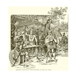 Norsemen Celebrating their Discovery of the New World Giclee Print