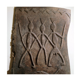 Low Relief Carved Wood Door or Panel Fron the Ijebu Region Giclee Print