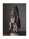 A Shrine Figure Depicting a Warrior in the Full Battle Dress of the 19th C Yoruba Wars Carried on… Giclee Print