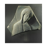 A Fragment of a Plaque with a Representation of the Virgin Mary Giclee Print