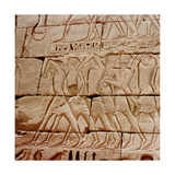 Relief from the Temple of Ramesses III, Medinet Habu Giclee Print