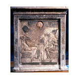 A Relief on a Stela Showing an Intimate Family Scene Giclee Print