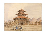 Temple of Devi, Patan, Nepal, 1850s Giclee Print by Dr. Henry Ambrose Oldfield