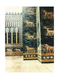 A Reconstruction of the Ishtar Gate Which Was Decorated with Polychrome Glazed Bricks and Was… Giclee Print