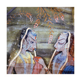 Detail of a Palace Wall Hanging Which Depicts the Legend of Krishna Giclee Print