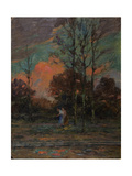 Walk in a Forest Giclee Print by Henri Duhem