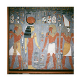 A Detail of a Wall Painting in the Tomb of Horemheb Giclee Print