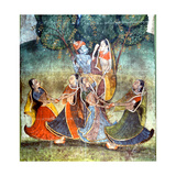 A Detail from One of the Legends of Krishna Giclée-Druck