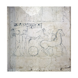 A Preparatory Drawing for a Tomb Relief Depicting a Horse and Chariot Giclee Print