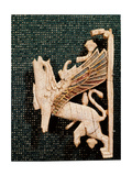 Phoenican Ivory Plaque Depicting Part of a Griffin Giclee Print