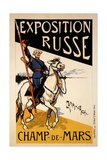 Poster for a Russian Exhibition in the Champs De Mars, Paris, C.1910 Giclee Print by Emmanuel Poire Caran D'ache