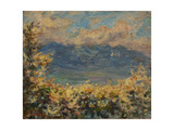 Mont Riant Above Vevey Giclee Print by Henri Duhem