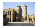 Statues of Amenophis III Later Reused by Ramesses II Giclee Print