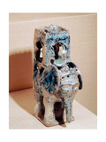 Incense Burner with Blue Iridescent Glaze in the Form of an Elephant Giclee Print