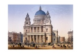 St Paul's Cathedral, Print Made by Ch. Riviere, 1862 Giclee Print by Achille-louis Martinet