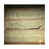 "A Wall in the Tomb of Tuthmosis III Painted with a Scene from the Am Duat, ""The Book of That… Giclee Print"