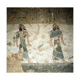 A Detail of a Wall in the Tomb of Ramses III Painted with Scenes from the Book of Gates Giclee Print