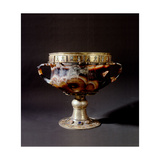 An Onyx Chalice Richly Decorated with Silver-Gilt Mounts, Semi-Precious Stones and Enamels Giclee Print