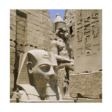 Monumental Sculpture and Relief Carvings at Luxor Giclee Print