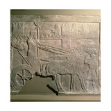 Stone Relief from a Series Showing Ashurbanipal Hunting Giclee Print