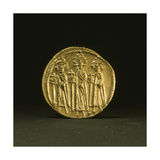 A Gold Solidus from the Reign of Heraclius Giclee Print