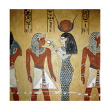 A Detail of a Wall Painting in the Tomb of Tuthmosis 1V Giclee Print
