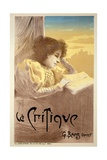 Poster Advertising 'La Critique', Late 19th Century Giclee Print by Ferdinand Misti-mifliez