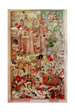 "A 16th Century Illustration of a 14th Century Story ""The History of the Mongols"" Giclee Print"