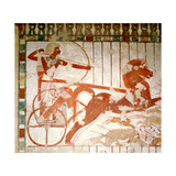 A Detail of a Painting in the Tomb of Userhet, Royal Scribe of Amenophis II Giclee Print