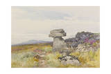 Logan Stone, Rippon Tor , C.1895-96 Giclee Print by Frederick John Widgery