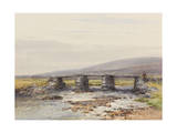 Cyclopean Bridge (Post Bridge, Dartmoor) , C.1895-96 Giclee Print by Frederick John Widgery