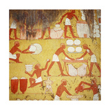 Painting in the Tomb of Qenamun, West Thebes Giclee Print